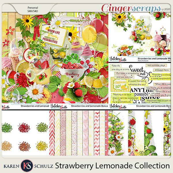 Strawberry Lemonade Collection by Karen Schulz