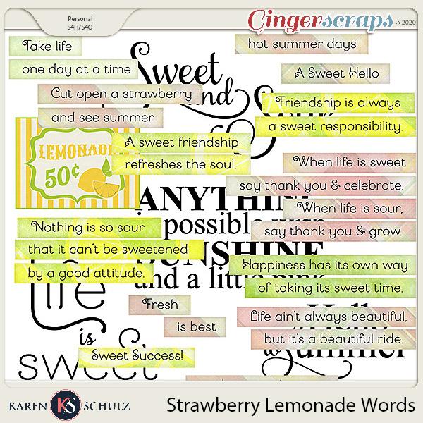 Strawberry Lemonade Words by Karen Schulz