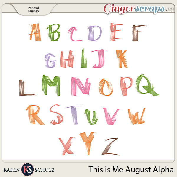 This is Me August Alpha by Snickerdoodle Designs