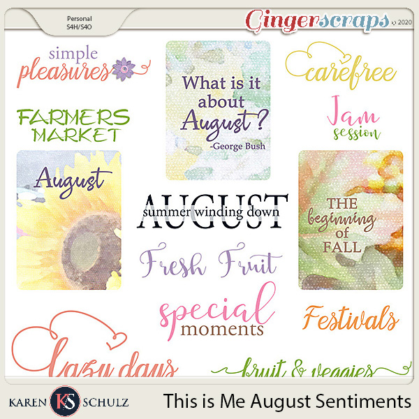 This is Me August Word Art by Snickerdoodle Designs