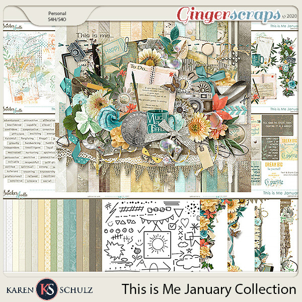 This is Me January Collection by Snickerdoodle Designs