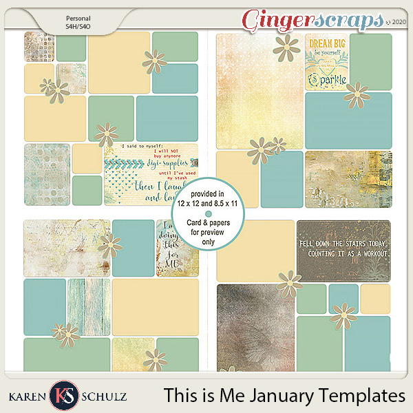 This is Me January Templates by Karen Schulz