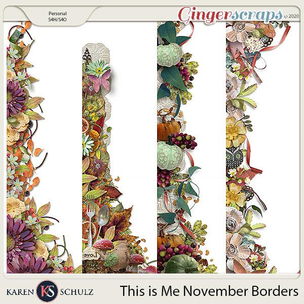 This is Me November Borders by Karen Schulz