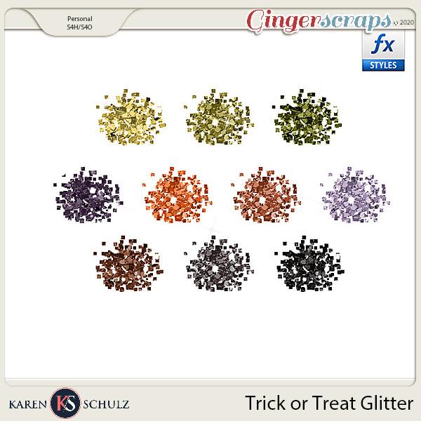 Trick or Treat Glitter by Karen Schulz