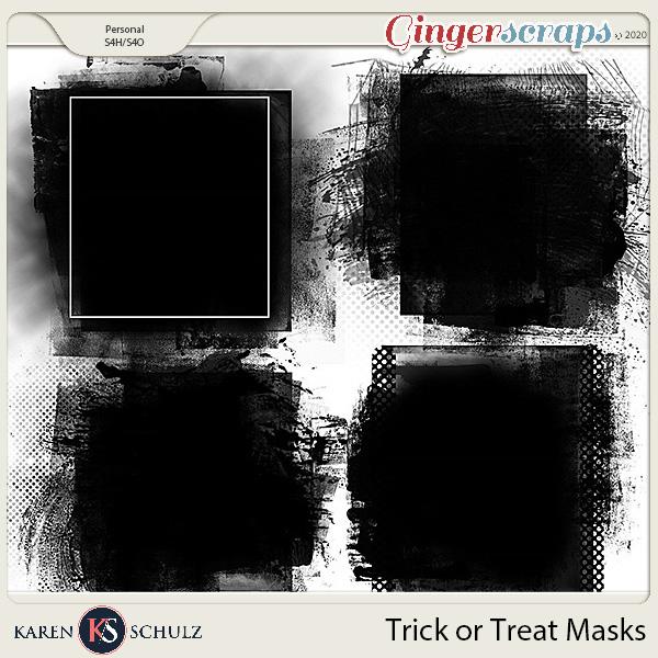 Trick or Treat Masks by Karen Schulz
