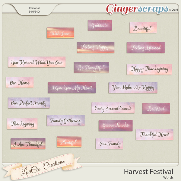 Harvest Festival Words