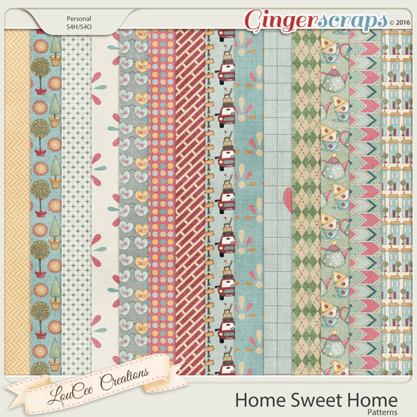 Home Sweet Home Patterned Papers
