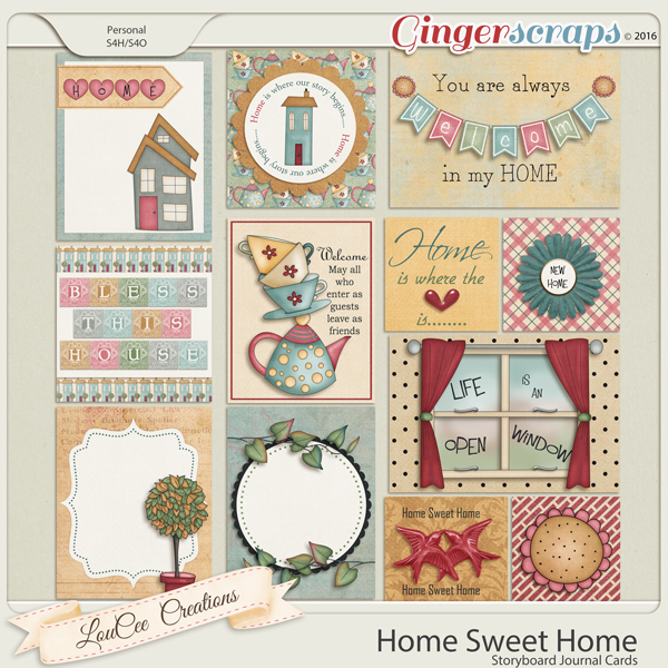Home Sweet Home Journal Cards