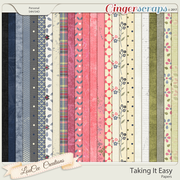 Taking It Easy Papers by LouCee Creations