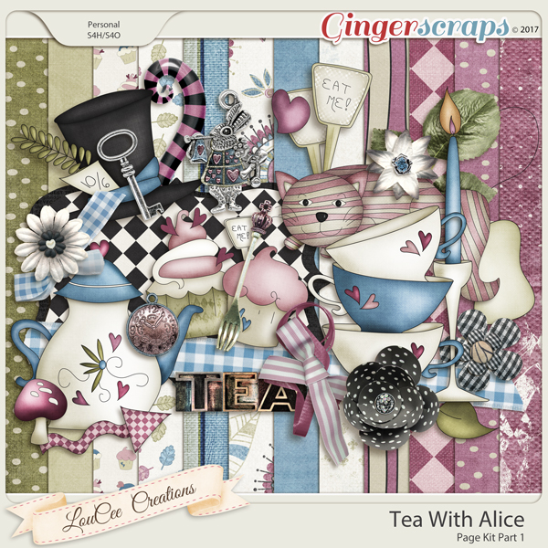 Tea With Alice Page Kit Part 1