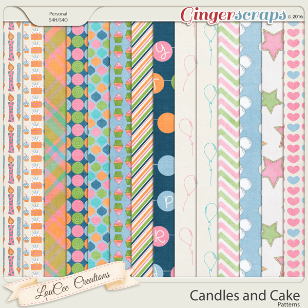 Candles and Cake Patterns