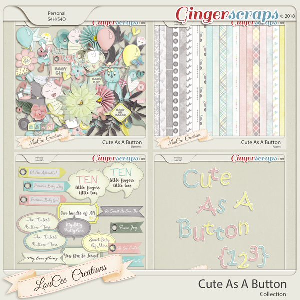 Cute As A Button Collection