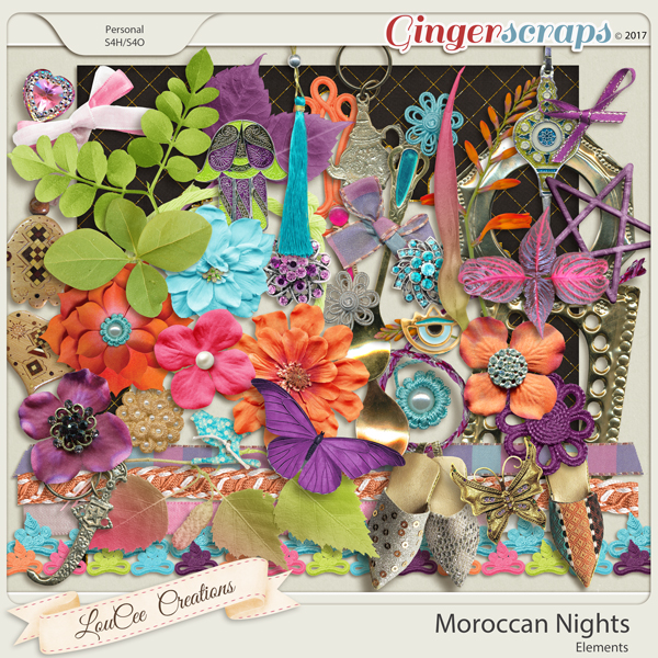 Moroccan Nights Elements by LouCee Creations
