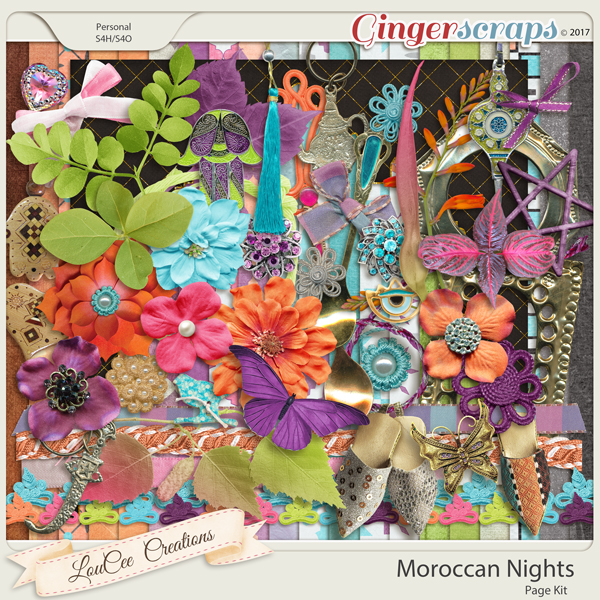 Moroccan Nights Page Kit by LouCee Creations