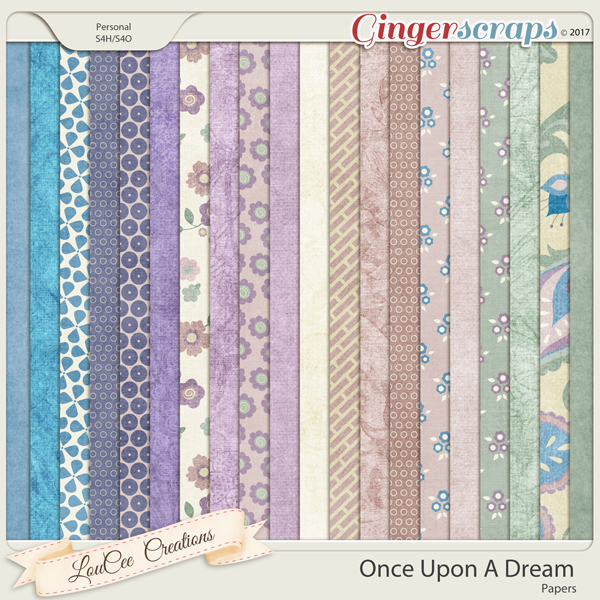 Once Upon A Dream Papers by LouCee Creations