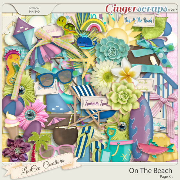 On The Beach by LouCee Creations