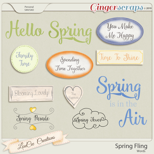 Spring Fling Words