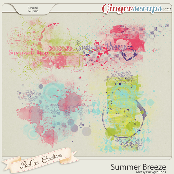 Summer Breeze Messy Backgrounds