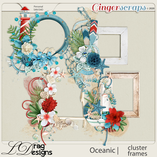 Oceanic: Cluster Frames by LDragDesigns