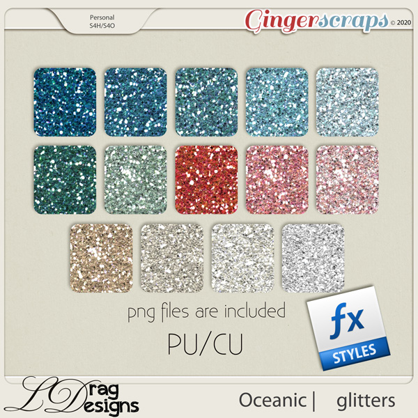 Oceanic: Glitterstyles by LDragDesigns