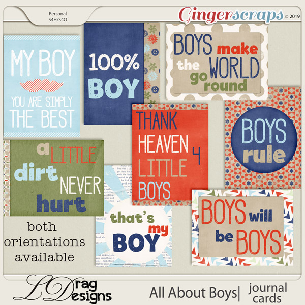 All About Boys: Journal Cards by LDragDesigns