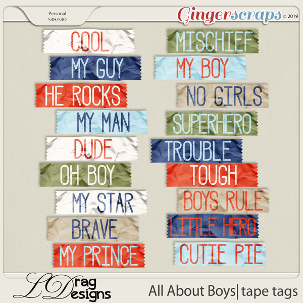 All About Boys: Tape Tags by LDragDesigns