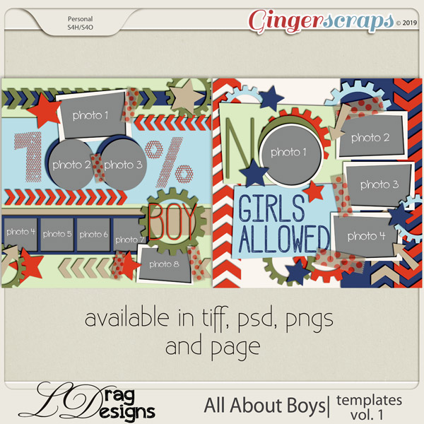 All About Boys: Templates Vol. 1 by LDragDesigns