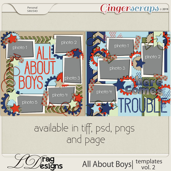 All About Boys: Templates Vol. 2 by LDragDesigns