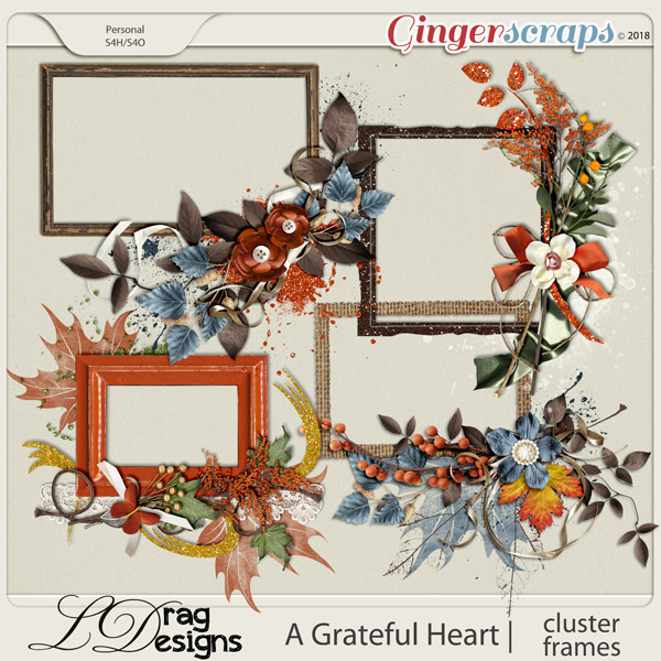 A Grateful Heart: Cluster Frames by LDragDesigns