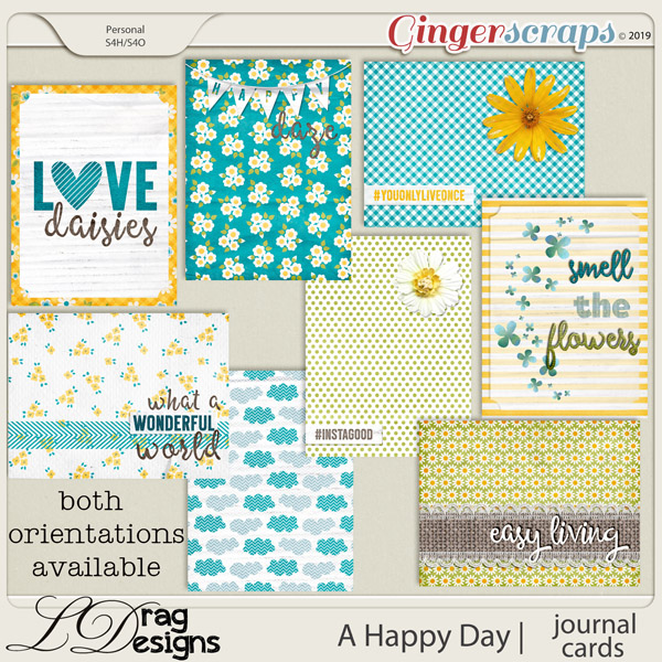 A Happy Day: Journal Cards by LDragDesigns