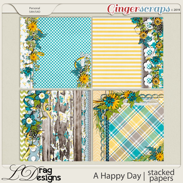 A Happy Day: Stacked Papers by LDragDesigns