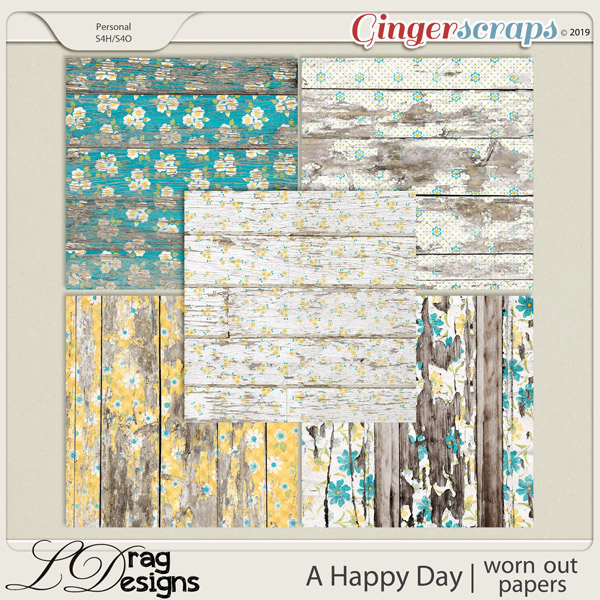 A Happy Day: Worn out Papers by LDragDesigns