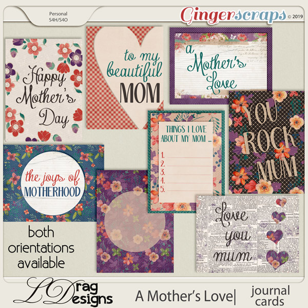 A Mother's Love: Journal Cards by LDragDesigns