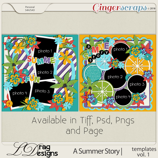 A Summer Story: Templates Vol. 1 by LDragDesigns