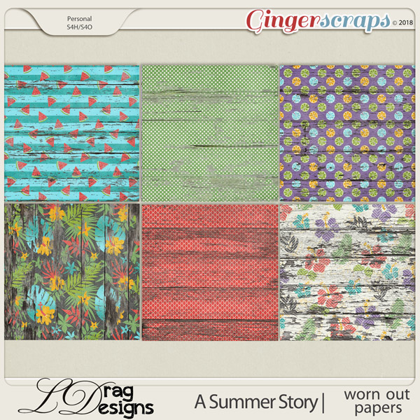 A Summer Story: Worn Out Papers by LDragDesigns