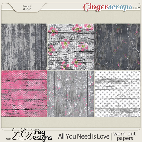 All You Need Is Love: Worn Out Papers by LDragDesigns