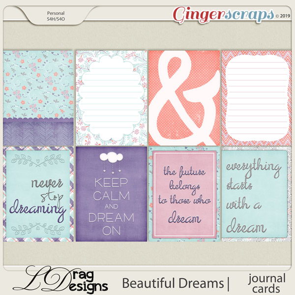 Beautiful Dreams: Journal Cards by LDragDesigns