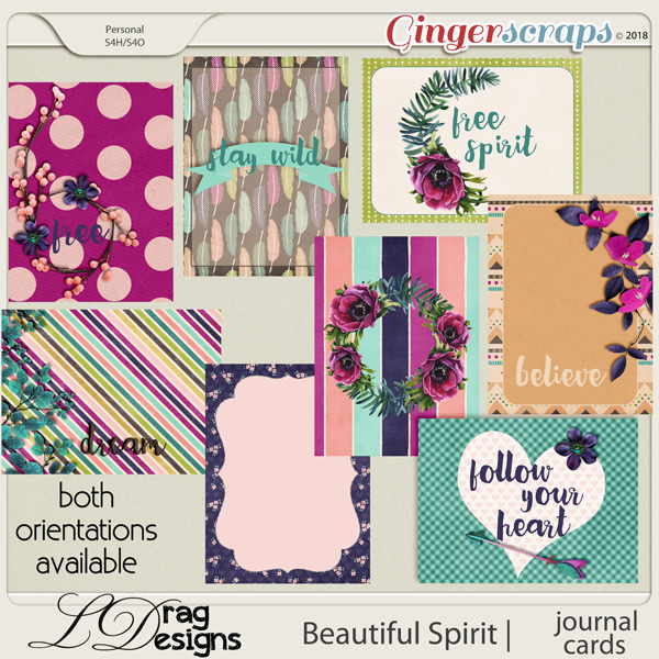 Beautiful Spirit: Journal Cards by LDragDesigns