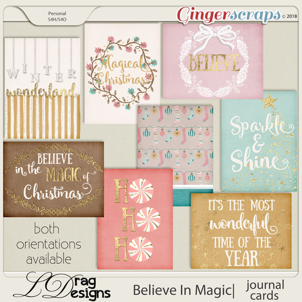 Believe In Magic: Journal Cards by LDragDesigns