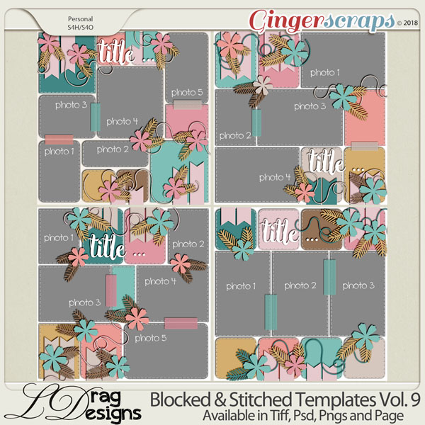 Blocked & Stitched Templates Vol.9 by LDrag Designs