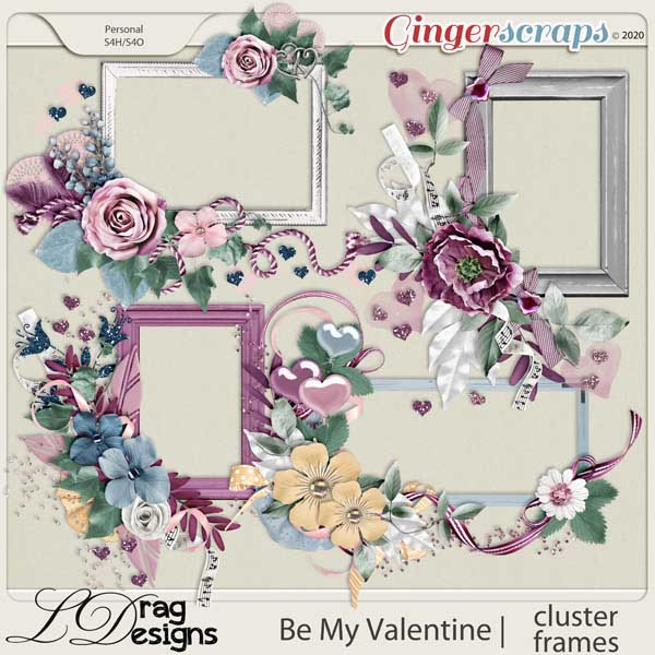 Be My Valentine: Cluster Frames by LDragDesigns
