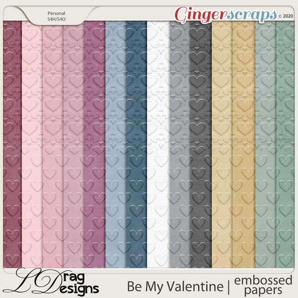 Be My Valentine: Embossed Papers by LDragDesigns