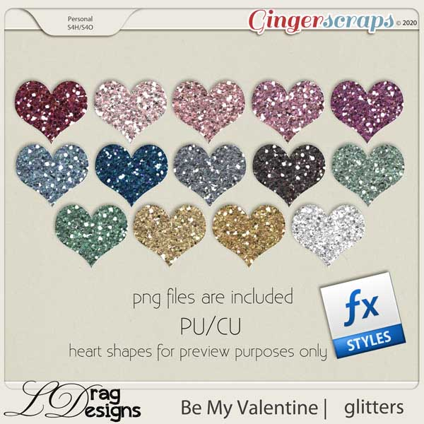 Be My Valentine: Glitterstyles by LDragDesigns