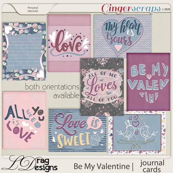 Be My Valentine: Journal Cards by LDragDesigns