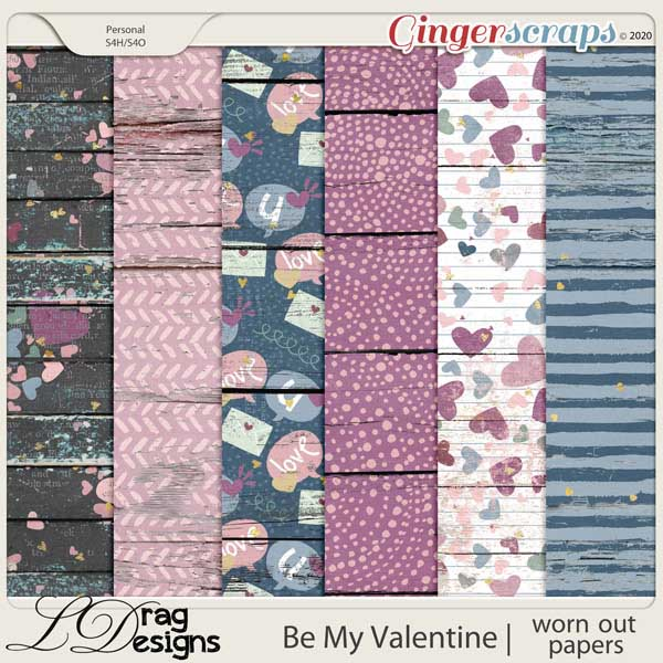 Be My Valentine: Worn Out Papers by LDragDesigns