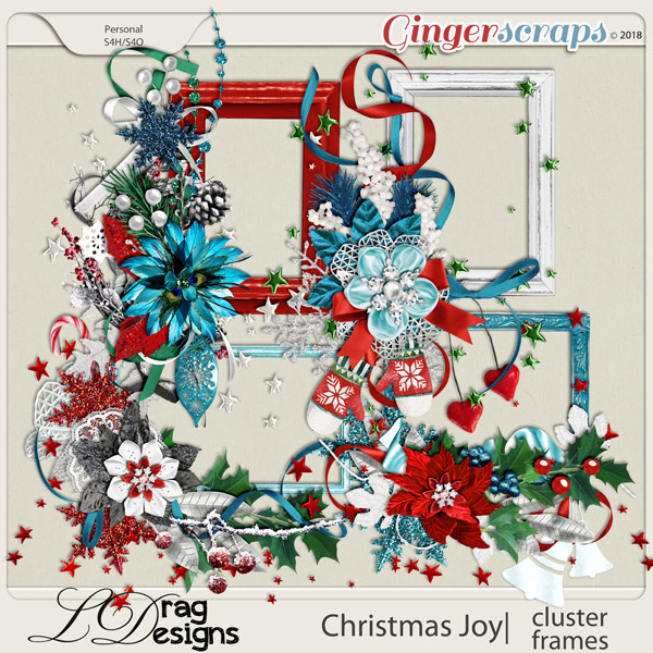 Christmas Joy: Cluster Frames by LDragDesigns