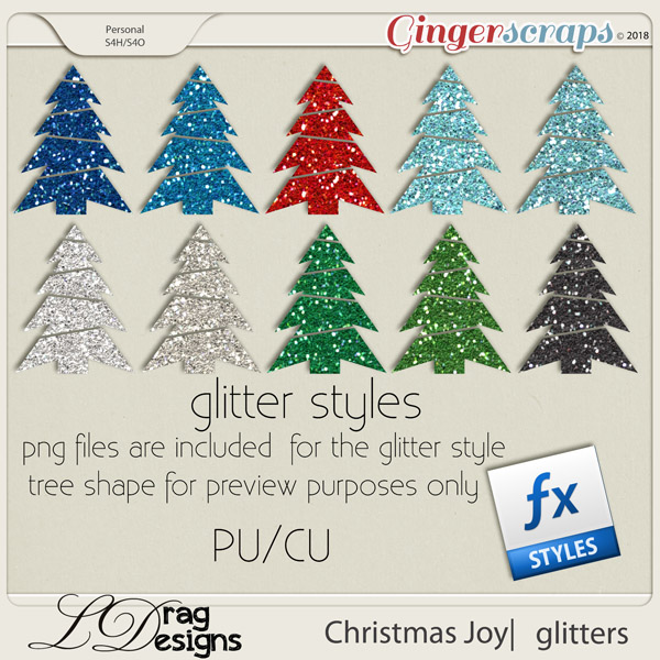 Christmas Joy: Glitterstyles by LDragDesigns
