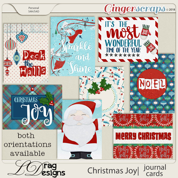 Christmas Joy: Journal Cards by LDragDesigns
