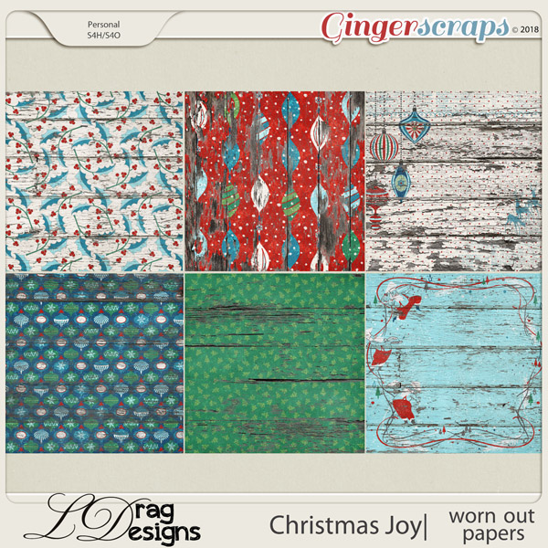 Christmas Joy: Worn Out Papers by LDragDesigns