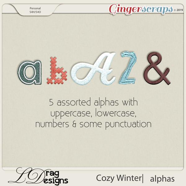 Cozy Winter: Alphas by LDragDesigns